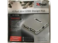 4 Port Mini USB2 Hub