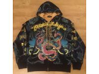 "Brand new authentic Christian Audigier men's luxury ""King Snake"" designer hoodie, size Large"