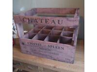 Wine Crate for 12 Bottles by Besp-Oak