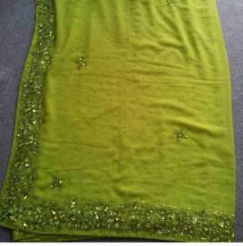 New lime green saree