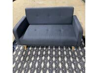 CUTE GREY 2 SEATER SOFA WITH DETACHABLE ARMS AND BACK REST (OOS)
