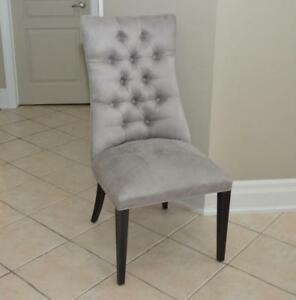 New! Upholstered Martini Dining Chairs - Smoke Silver