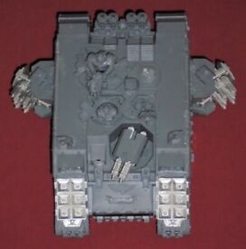 WH40K Completed Unpainted 'Land Raider Crusader' Model (boxed)