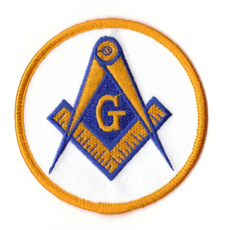 "Masonic / Freemason PATCH 3"" Round, 3 Color Embroidered"