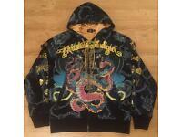 A pair of brand new authentic Christian Audigier men's designer hoodies
