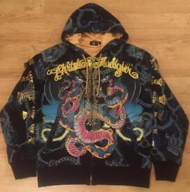 """Brand new authentic Christian Audigier men's luxury """"King Snake"""" designer hoodie. Large"""