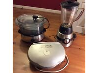 Russell Hobbs Blender, George Foreman grill and Tefal Steamer