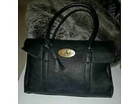 Mulberry BAYSWATER HANDBAG BLACK WITH BRAS