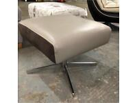 DFS leather and suede Footstool