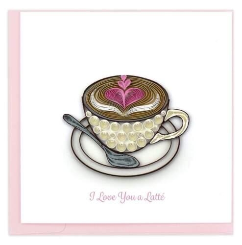 Love Latte  - Quilling Card Handmade Art Card    New