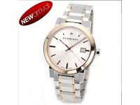 BRAND NEW BURBERRY WATCH WITH TAGS NEVER WORN