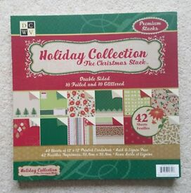 DCWV Holiday Collection Christmas Stack 12 x 12 cardstock