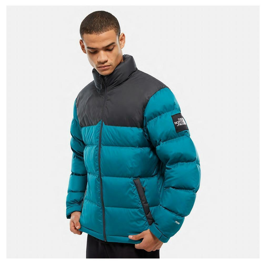 The North Face 1992 Nuptse Men's Jacket Size S EVERGLADEASPHALT GREY turquoise | in City of London, London | Gumtree