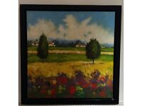 Colourful and Vibrant Landscape Painting on Canvas Framed