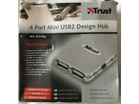 4 Port Mini USB2 Hub