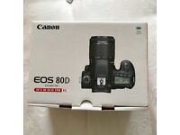 Canon 80D DSLR Camera with 18-55mm Lens