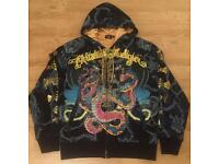 A pair of brand new authentic Christian Audigier men's designer hoodies