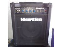 Hartke B300 30 Watt Bass Guitar Amp Combo Amplifier & Speaker Combined. Recently serviced.