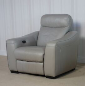 Designer Leather Grey Compact Chair (201) £349