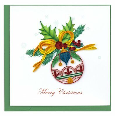 Quilling Card 3-D Christmas Greeting Card - CHRISTMAS ORNAMENT - QUL-X-0612 ()