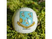Dolgelley crested ware China golf ball