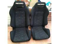 Rare Recaro Confetti bucket seats from my Celica GT4. Excellent condition, no bolster wear
