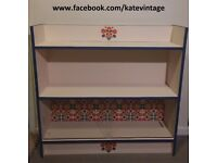 hand-decorated folk bookcase