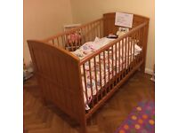 Mamas and Papas Hayworth Cotbed in vintage pine (New)