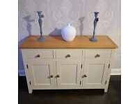 Oak and Cream Sideboard Brand New