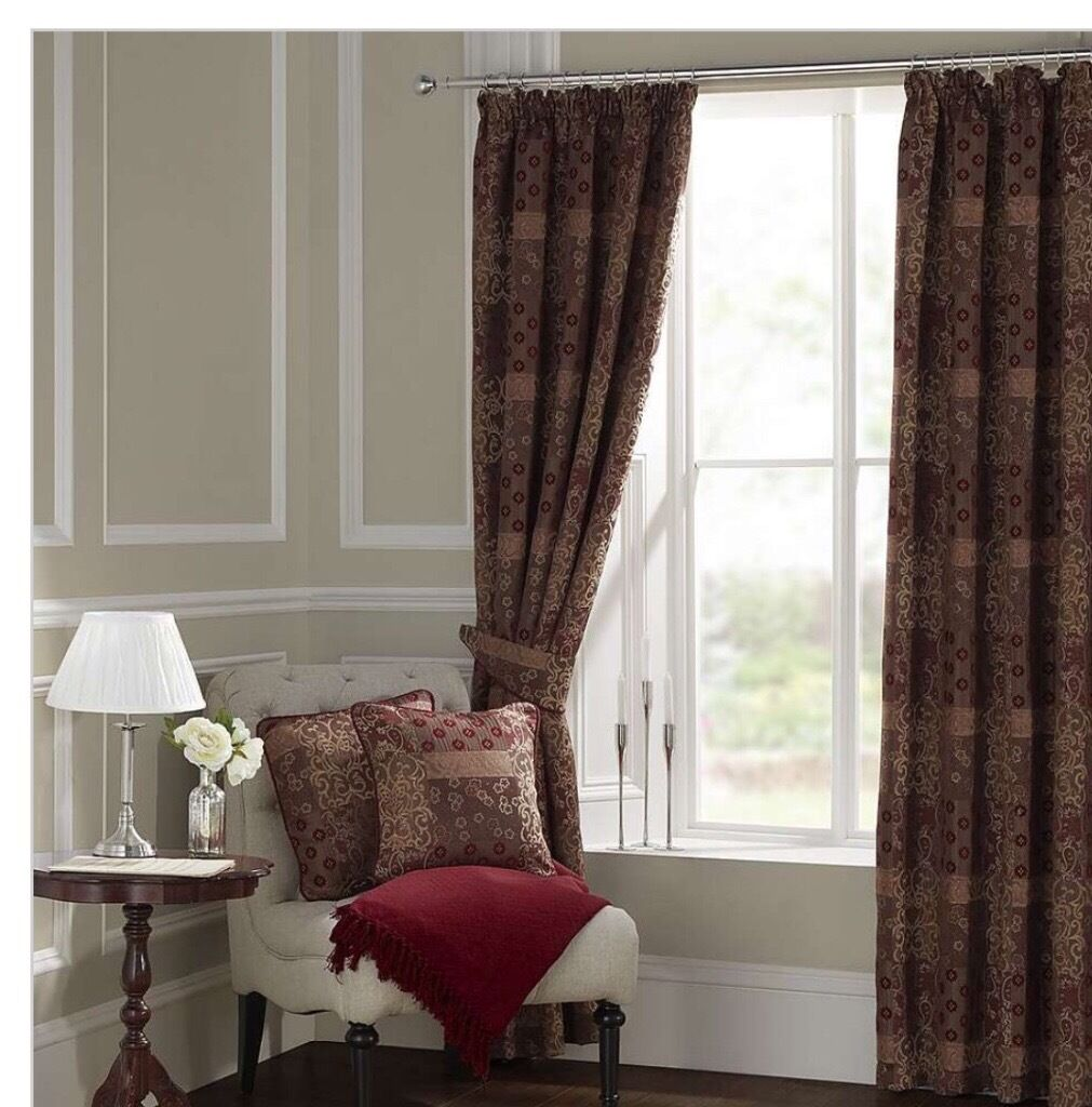 Dunelm Mill Kitchen Curtains Curtains Dunelm Claret Mayfair X 2 Pairs 168x229 In Norwich