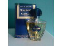 Vintage Guerlain Shalimar Eau de toilette 50ml boxed part used