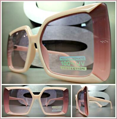 OVERSIZED EXAGGERATED VINTAGE RETRO Style SUN GLASSES Square Pink Fashion (Pink Square Glasses)