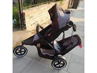 Phil and ted dash with handle brake and cocoon . double buggy . Pram . Pushchair
