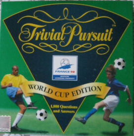 Trivial Pursuit - World Cup Edition - France 98 - 1,800 football questions - As new