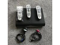 Sky + HD box with 3 remotes