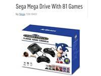 Sega mega drive with 81 games brand new sealed