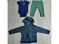 3 Piece Gerber's Matching Dinosaur Print Baby Clothes Bundle Set 12 Months