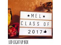 BRAND NEW LED Display your own message LIGHT UP BOX. GRADUATION 👨‍🎓 perfect gift 🎁