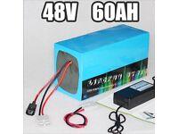 48v 60ah lithium battery, bike,Ebike,go kart, boat, etc