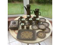 Vintage Retro Mid Century Denby Arabesque Afternoon Tea Coffee Set 24 Pieces