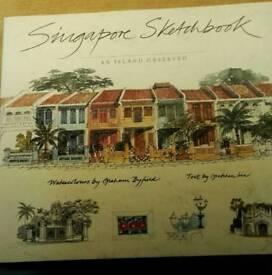 Fantastic Hardback Book. Singapore Sketchbook An Island Observed