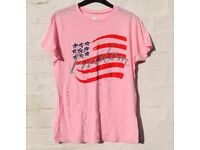 Freedom Med Ladies Light Pink Flag Semi Fitted T-Shirt Top C38""