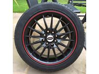 "4 X 15"" Team Dynamics Jet RS Alloy Wheels c/w tyres"