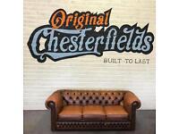 ORIGINAL Vintage Chesterfield Suite - PROFESSIONALLY RESTORED!