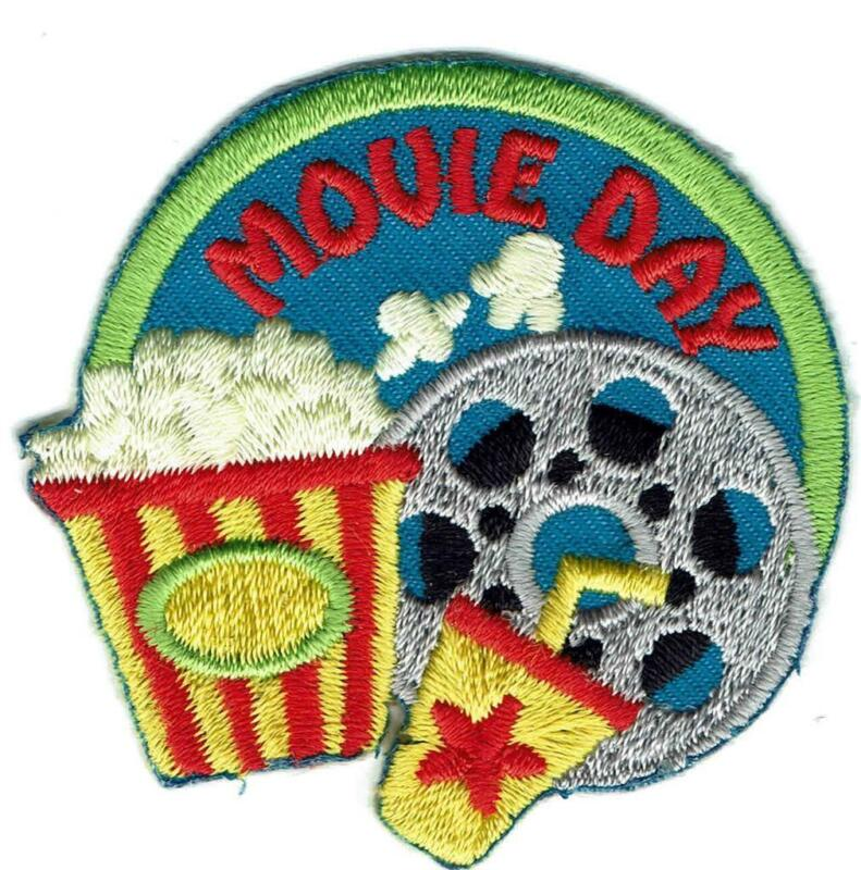 Girl Boy Cub MOVIE DAY visit tour Fun Patches Crests Badges SCOUT GUIDE theather