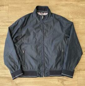Mens navy blue marks and spencer bomber jacket size XL