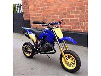 Superb 49cc Mini moto Dirtbike, scrambler,crosser