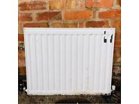 White Single Panel Radiator Central Heating Compact - 760mm Wide x 600mm High