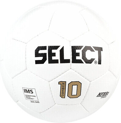 Select Bundle of 5 Numero 10 White Size 4 Hand Stitched Soccer Ball