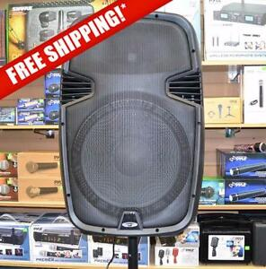 ACOUSTIC AUDIO 4315EB 15'' 1000 WATT 2-WAY ACTIVE LOUDSPEAKER WITH USB / SD CARD INPUTS AND BLUETOOTH